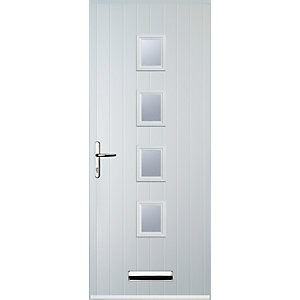 Euramax 4 Square White Right Hand Composite Door