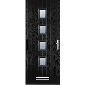 Euramax 4 Square Black Left Hand Composite Door