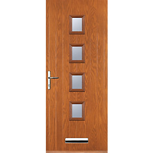 Euramax 4 Square Oak Right Hand Composite Door