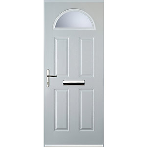 Euramax 4 Panel 1 Arch White Right Hand Composite Door