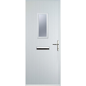 Euramax 1 Square White Left Hand Composite Door
