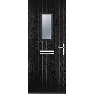 Image of Euramax 1 Square Black Left Hand Composite Door 920mm x 2100mm
