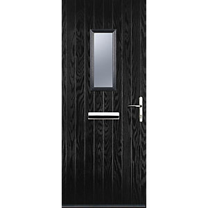 Image of Euramax 1 Square Black Left Hand Composite Door 880mm x 2100mm