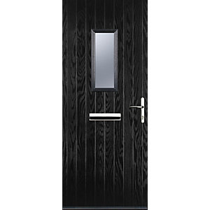 Image of Euramax 1 Square Black Left Hand Composite Door 840mm x 2100mm