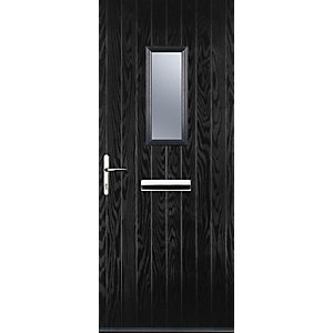 Image of Euramax 1 Square Black Right Hand Composite Door 920mm x 2100mm
