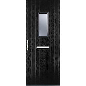 Image of Euramax 1 Square Black Right Hand Composite Door 880mm x 2100mm