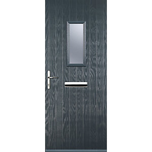 Euramax 1 Square Grey Right Hand Composite Door