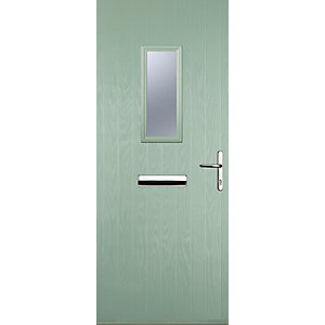 Image of Euramax 1 Square Chartwell Green Left Hand Composite Door 920mm x 2100mm