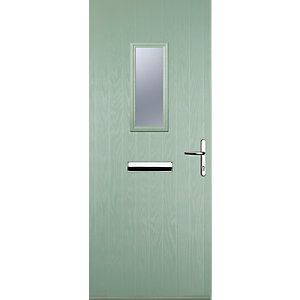 Image of Euramax 1 Square Chartwell Green Left Hand Composite Door 880mm x 2100mm