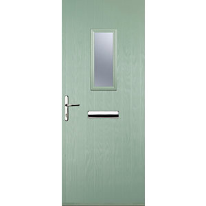 Image of Euramax 1 Square Chartwell Green Right Hand Composite Door 840mm x 2100mm