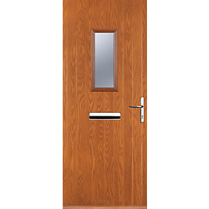 Euramax 1 Square Oak Left Hand Composite Door