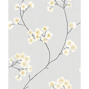 Graham & Brwon Superfresco Easy Radiance Grey and Ochre Decorative wallpaper - 10m