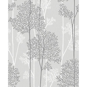 Superfresco Easy Eternal Grey Glitter Effect Wallpaper - 10m