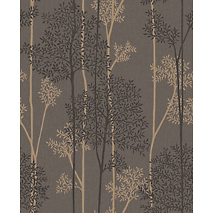 Image of Superfresco Easy Eternal Chocolate and Bronze Glitter Effect Wallpaper - 10m