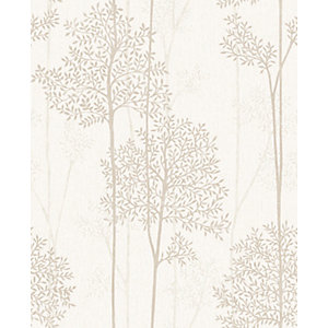 Superfresco Easy Eternal Cream and Gold Glitter Effect Wallpaper - 10m