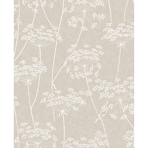 Image of Superfresco Easy Aura Taupe Decorative Wallpaper - 10m