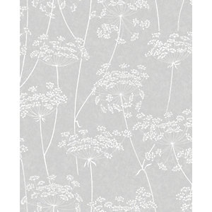 Image of Superfresco Easy Aura Grey Decorative Wallpaper - 10m