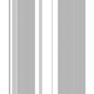 Superfresco Easy Gradient Silver Stripe Wallpaper -10m