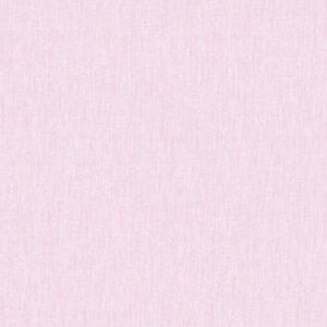 Image of Superfresco Easy Calico Rose Pink Fabric Textured Wallpaper - 10m