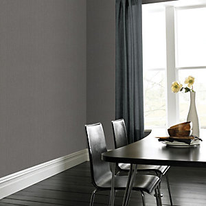 Superfresco Easy Textile Light Grey Linen Textured Wallpaper - 10m