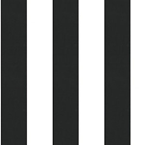 Superfresco Easy Lynn Black and White Stripe Decorative Wallpaper - 10m