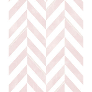 Italie Geometric Design Pink Decorative Wallpaper -10m
