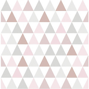 Superfresco Easy Tarek Geometric Design Rose Gold Wallpaper - 10m