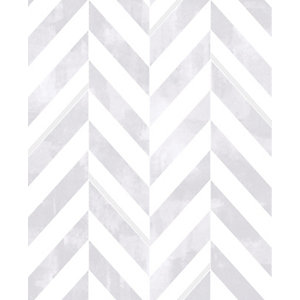 Image of Graham & Brown Italie Geometric Design Silver Decorative Wallpaper -10m