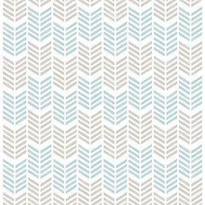 Superfresco Easy Oiti Taupe and Blue Geometric Wallpaper - 10m