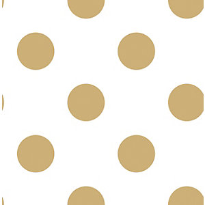 Superfresco Easy Gold Dotty Decorative Wallpaper - 10m