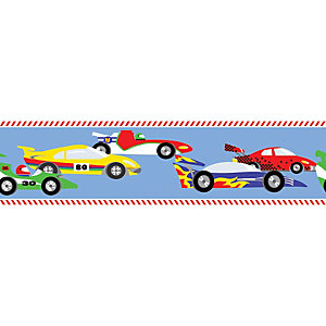 Image of Graham & Brown Pit Stop Multicoloured Decorative Border - 5m