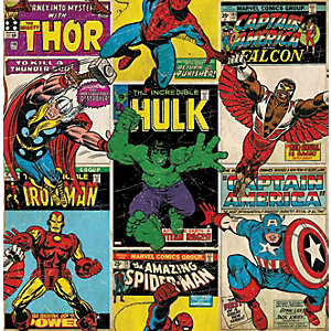 Image of Graham & Brown Marvel Superheroes Breakout Multicoloured Decorative Wallpaper - 10m