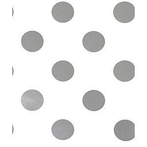 Dotty Silver Decorative Wallpaper - 10m