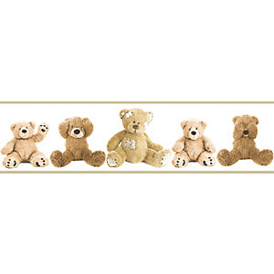 Teddy Bears Multicoloured Decorative Border - 5m