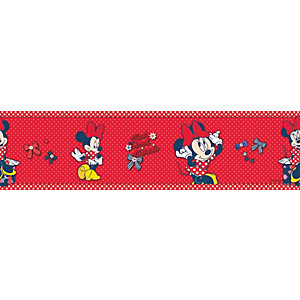 Disney Minnie Mouse Multicoloured Decorative Border - 5m