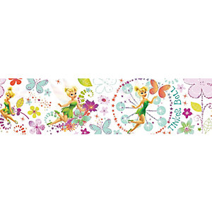 Disney Tinkerbell Fairytale Garden Multicoloured Decorative Border - 5m