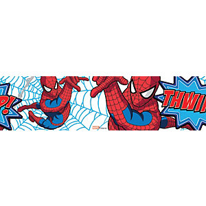 Image of Graham & Brown Spider-man Red/White/Blue Decorative Border - 5m