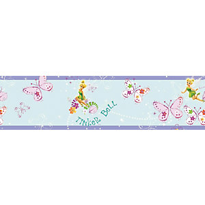 Disney Tinkerbell Butterfly Multicoloured Decorative Border - 5m