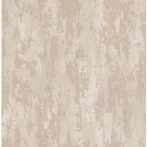Boutique Industrial Texture Beige/Gold Decorative Wallpaper - 10m