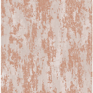 Boutique Industrial Texture Copper Decorative Wallpaper - 10m