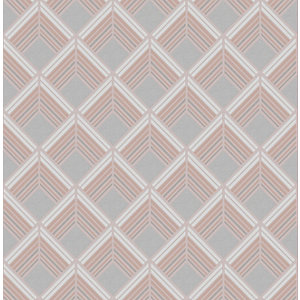 Boutique Trifina Geo Taupe/Copper Decorative Wallpaper - 10m