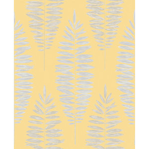 Boutique Lucia Yellow Decorative Wallpaper - 10m