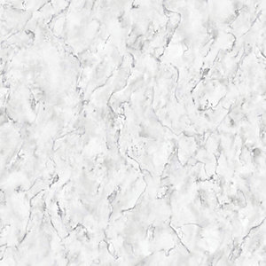 Boutique Marble White Decorative Wallpaper - 10m