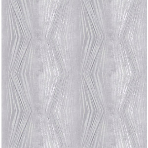 Boutique Vermeil Stripe Silver Decorative Wallpaper - 10m