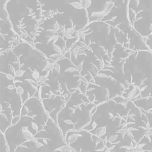 Superfresco Easy Laos Trail Grey/Silver Decorative Wallpaper - 10m