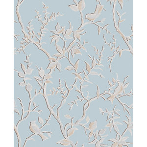 Superfresco Easy Laos Trail Duck Egg Blue Decorative Wallpaper - 10m