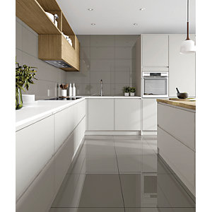 Wickes Seattle Steel Glazed Porcelain 600 x 300mm