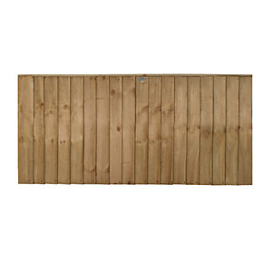 Forest Garden Pressure Treated Featheredge Fence Panel - 6 X 3ft Multi Packs