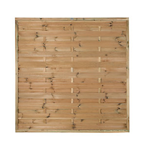Forest Garden Horizontal Hit & Miss Fence Panel - 6 x 6ft Multi Packs