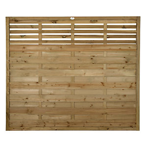 Forest Garden Kyoto Fence Panel - 6 x 5ft Multi Packs
